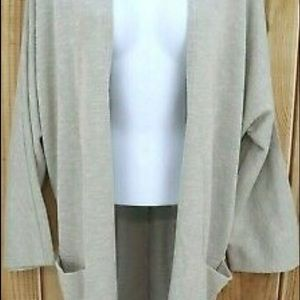 NWT Donni Gray Striped Open Front Cardigan